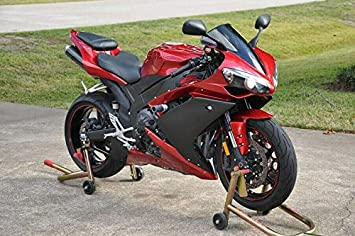 FocusAtOne Wine Red with Matte Black Fairing Bodywork Aftermarket Painted ABS Plastic Injection Molding Kit for 2007-2008 07-08 Yamaha YZF R1 1000