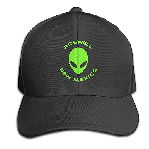 Roswell New Mexico Alien Snapback Sandwich Cap Black Baseball Cap Hats Adjustable Peaked Trucker Cap