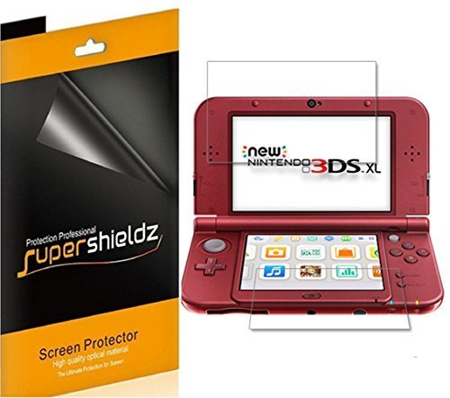 - [6-Pack] Supershieldz for New Nintendo 3DS XL Screen Protector, Anti-Bubble High Definition Clear Shield + Lifetime Replacement