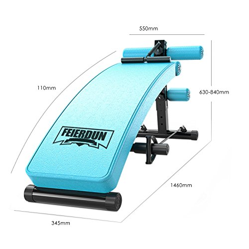 Sit Up AB Bench Incline Decline FEIERDUN Adjustable Workout Sit up Bench with Replaceable Leather Cover,Slant Crunch Board abs Benches