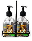 RNK Shops Dogs Playing Poker 1903 C.M.Coolidge Soap & Lotion Dispenser Set (Glass)