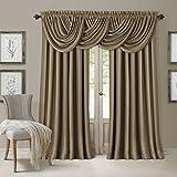 Elrene Home Fashions Blackout Energy Efficient Room Darkening Rod Pocket Window Curtain Drape