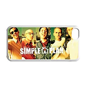 Personalized Custom Pop Punk Band Simple Plan Pierre Bouvier David Desrosiers Members Logo Ideas Printed for IPhone 5C Phone Case Cover--WSM-051602-015
