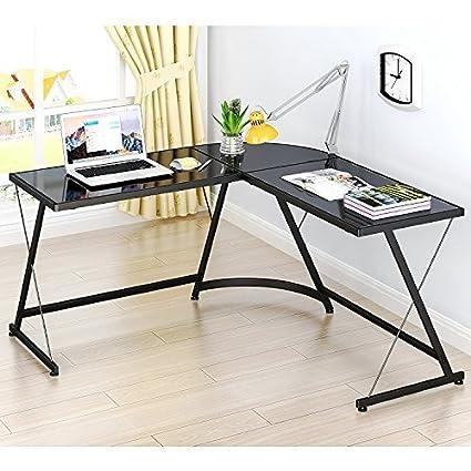 Review SHW L-Shaped Home Office Corner Desk