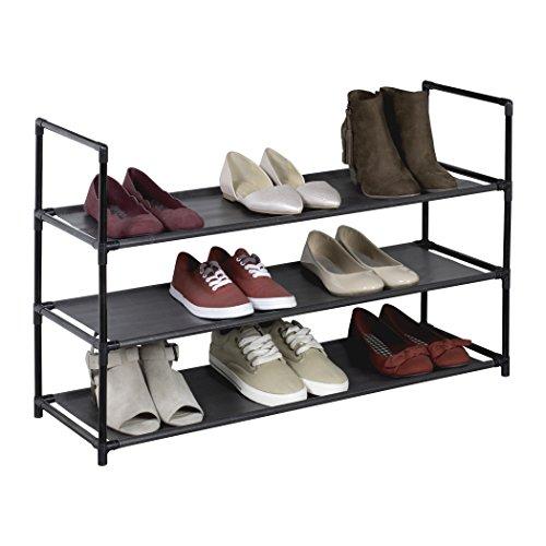 Richards Homewares 100091000 3 Shelf Fabric Shoe Rack Free Standing