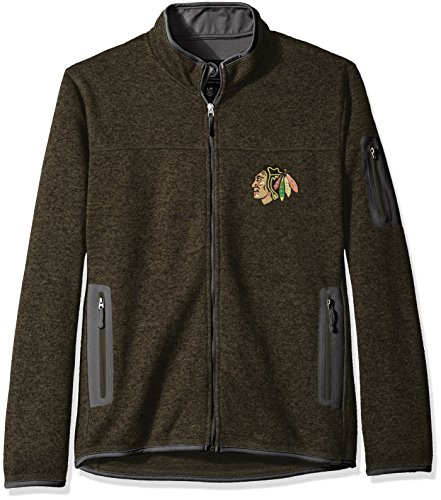 - NHL Chicago Blackhawks Men's Campfire Full Zip Jacket, Army Green, Large