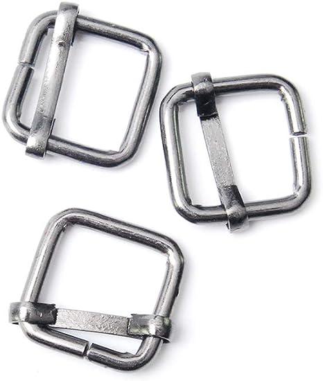 "Pack 4 Heavy Duty Slide Buckle Sliding Bar Keeper for 25mm 1/"" Webbing Strap"
