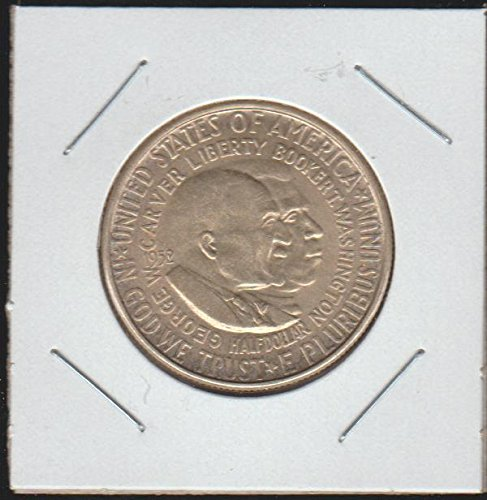 1952 Carver/Washington Commerative Half Dollar Choice About Uncirculated Details ()