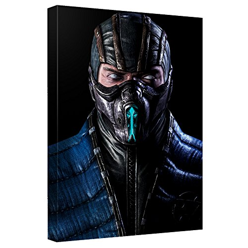 Sub-Zero -- Mortal Kombat -- Stretched Canvas Framed Artwrap, 8x12