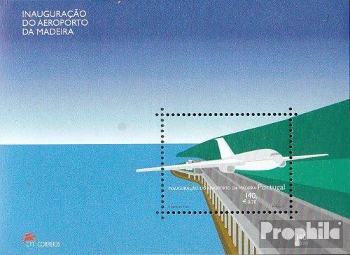 Madeira (Portugal) block22 (Complete.Issue.) 2000 Airport and Madeira (Stamps for Collectors) Aviation