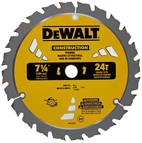 DEWALT DW3578B10 Framing Blade 7-1/4