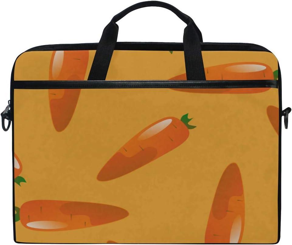 College Students Business People Office Workers Briefcase Messenger Shoulder Bag for Men Women Laptop Bag Carrot Pattern 15-15.4 Inch Laptop Case