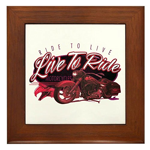 Framed Tile Live to Ride Ride to Live Hogs Bikes