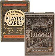 Provision & Hudson Playing Cards 2 Pack Decks   1 Deck Provision Brand and 1 Deck Hudson Playing Cards   b