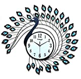Zehui Living Room/Bedroom Decoration Modern Creative Peacock Creative Modern Wall Clock