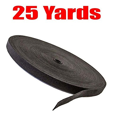 imbaprice-cable-fastening-tape-075-inch-one-wrap-hook-loop-75-feet-25-yards-roll-black