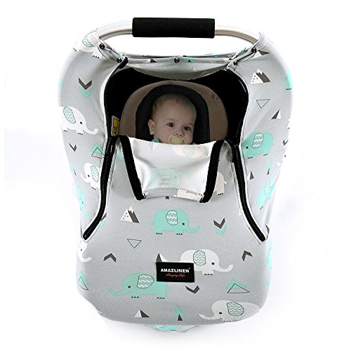 Baby Car Seat Covers AMAZLINEN Multifunctional Infant Carseat Canopy For Boys GirlsInsect Free
