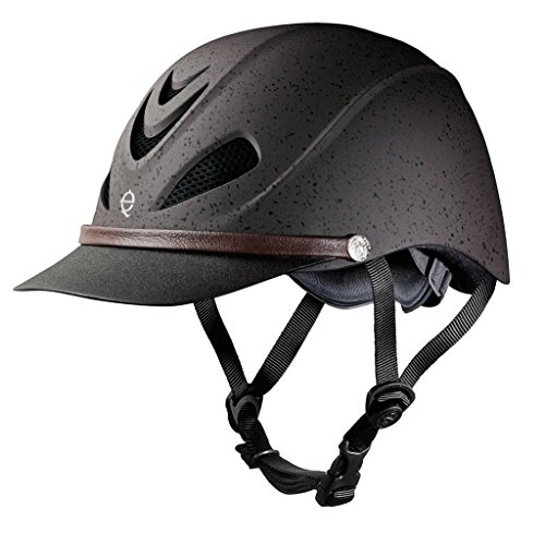 TROXEL DAKOTA LIGHTWEIGHT TRAIL EQUESTRIAN HELMET SEI / ASTM CERTIFIED All Colors and Sizes (Grizzly Brown, Large) (Helmet Troxel Duratec Dakota)