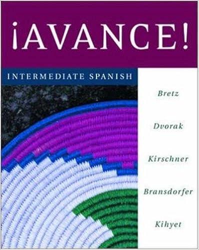Amazon Avance Intermediate Spanish Student Edition Prepack