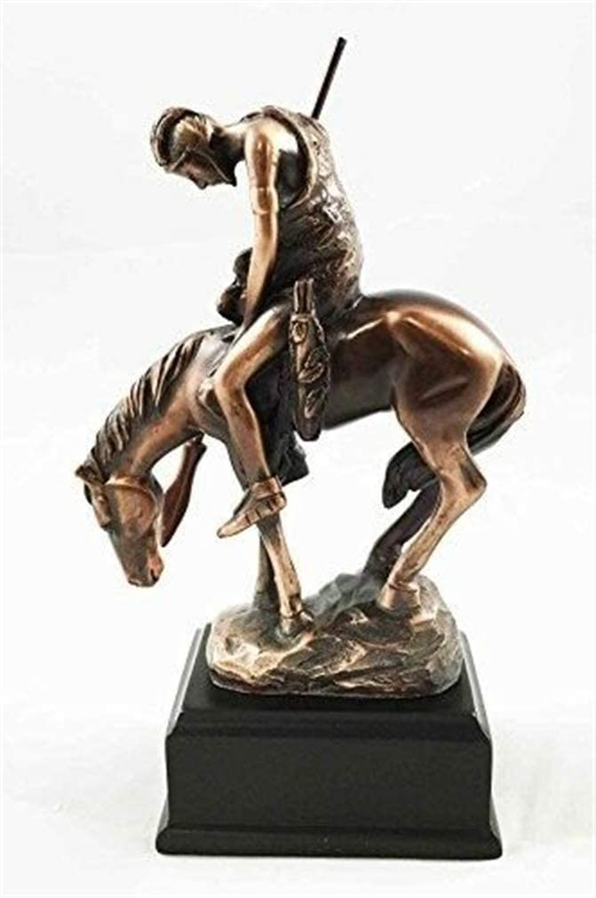 """End of Trail Native American Indian Statue 6.25/""""h  Bronze Electroplated Figurine"""