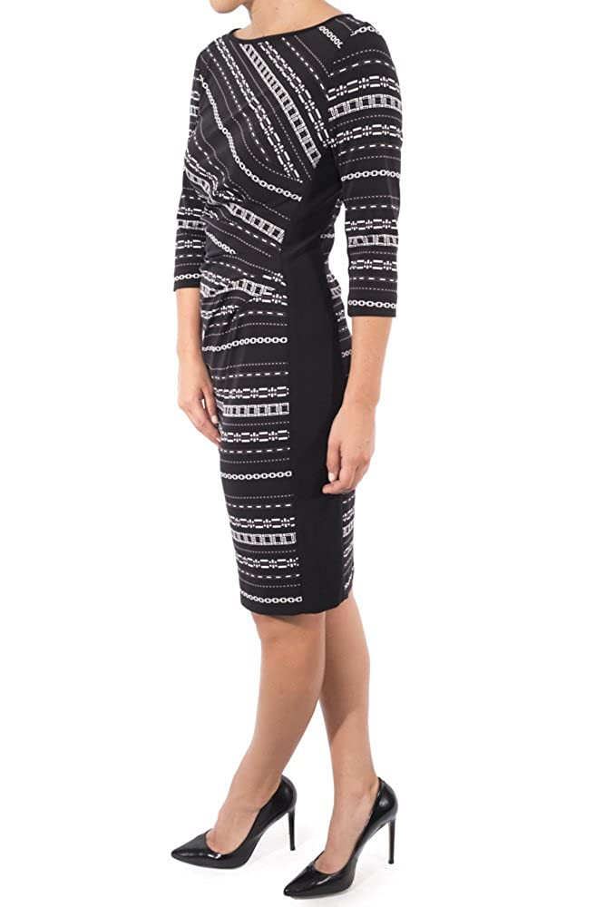 b722e9382f1 Top1  Joseph Ribkoff Bell Sleeve Print Dress Style 174822