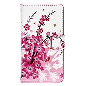 Wintersweet Pattern Full Body Case with Card Slot for HuaWei Y300