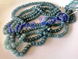 Bumper offer 10 Strands of 14 Inch aquamarin Beads - Loose beads aquamarin Nuggets Smooth rondelle 10-06mm Beads For Sale .
