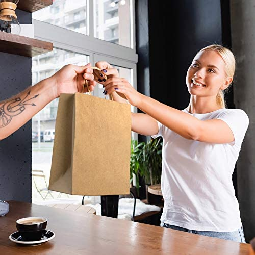 BagKraft Brown Paper Bags with Handles Mixed Size | 100% Recyclable Kraft Paper | Ideal for Gifts, Shopping, Boutique, Packaging, Merchandise, Grocery and Craft (30)