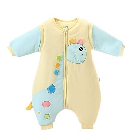 Saco de dormir para bebés Manga desmontable Anti-kick Acolchado Bebé recién nacido Pijamas de