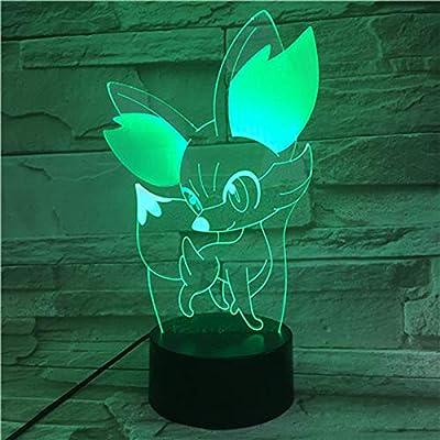 Pokemon Go Fennekin Figura LED Luz nocturna para niños Lámpara ...