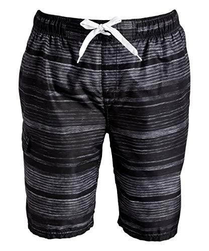 aa2776493a Kanu Surf Men's Legacy Swim Trunks (Regular & Extended Sizes), Jetstream  Black, Large