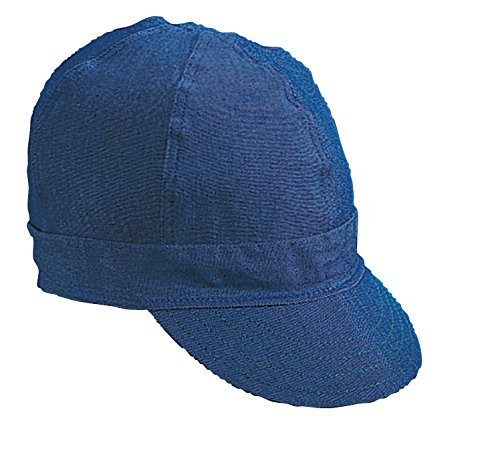 (Mutual Industries 00045-00000-0007 Kromer Blue Denim Style Welder Cap, Cotton, Length 5