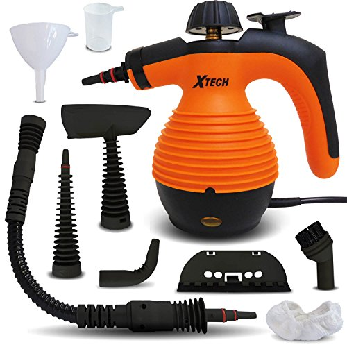 xtech-multi-purpose-electric-steam-cleaner-with-advanced-safety-lock-on-steamer-button-plus-9-assort