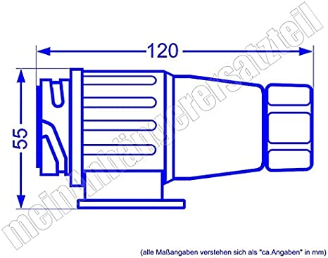 13 poliger Stecker Kunststoffstecker Anhängerstecker 13pol für Pkw Anhänger 12V