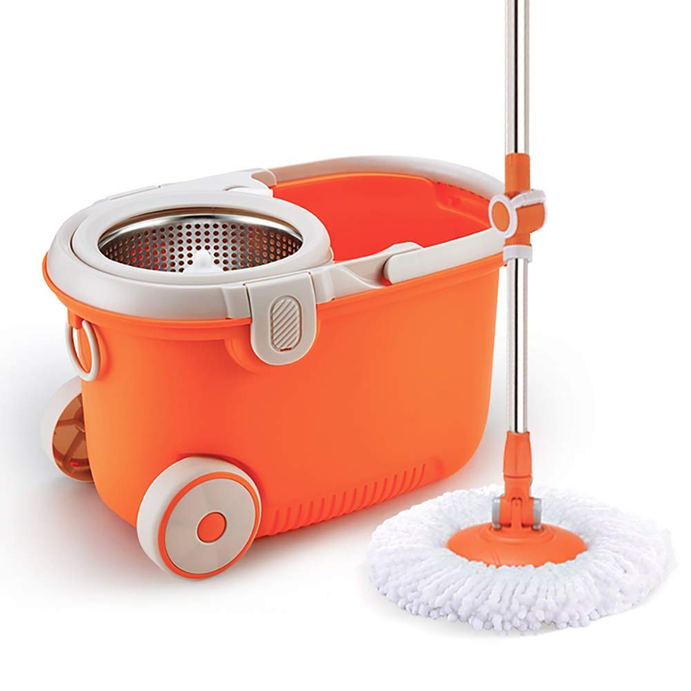 Rotating Mop - Rotating Household Hands-Free Hand Painted Mop Bucket,4mopheads by Hongsheng (Image #1)