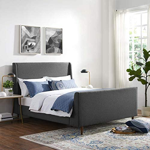 Modway Aubree Upholstered Fabric Sleigh Queen Platform Bed