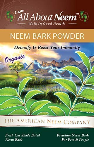 Neem Bark Powder 1 lb, Organic, Pure, Fresh Cut, Shade Dried, Hand Ground – Supports Digestive Health, Healthy Gums, Teeth, Skin. Good for pets.