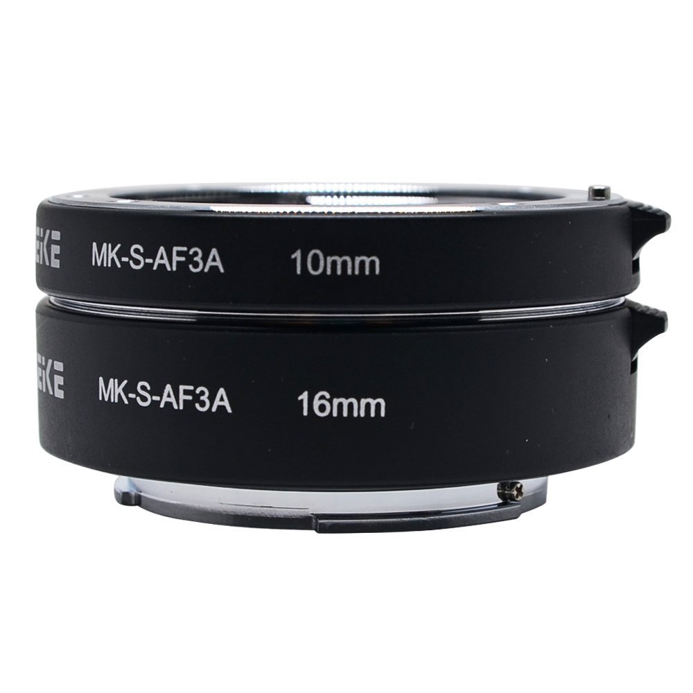 Venidice MK-S-AF3A Metal Auto Focus Macro Extension Tube Adapter Ring 10mm 16mm for Sony Mirrorless NEX E-mount NEX 3/3N/5/5N/5R/A6000/A6300 and Full Frame A7 A7S/A7SII A7R/A7RII A7II …