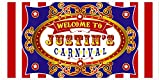 Carnival Birthday Banner Personalized Party Backdrop Decoration