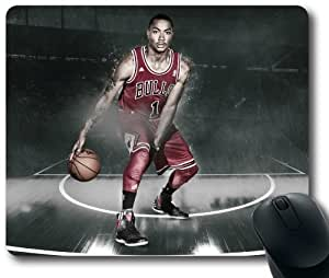 NBA Derrick-Rose-2013-2014-Basket Mouse Pad, Rectangle Mousepad Designed by the Micase