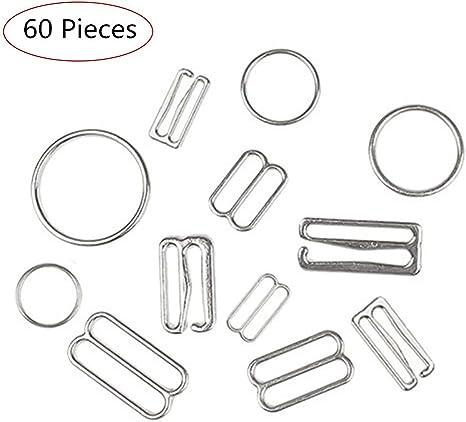 100pcs Bra Strap Adjustment Sliders for Lingerie Underwear Sewing Craft 8mm