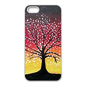 QSWHXN Diy Tree of Life Selling Hard Back Case for Iphone 5 5g 5s