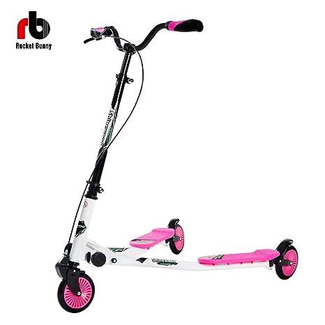 Scooter Rocket Bunny, modelo Big Wheel, de tres ruedas para adolescentes
