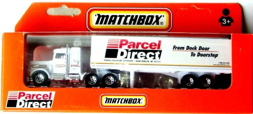 Matchbox Tractor Trailer - Matchbox Parcel Direct Peterbilt Tractor Trailer 1:87