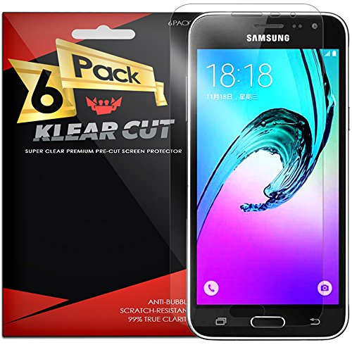 samsung-galaxy-j3-screen-protector-6-pack-klear-cut-lifetime-replacement-warranty-anti-bubble-anti-f