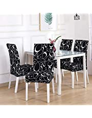SAYOPIN Slipcover for Dining Room Chair Set of 6 Spandex Stretch Chair Covers for Kitchen Washable for Hotel Banquet & Ceremony, Dining Chair Seat Covers Suitable for Square Back