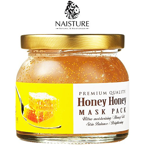 Naisture Honey Facial Mask, Natural Bee Friendly Honey Brightens, Moisturizes, Smooths, Calms and Balances Skin for Face - 4.9oz (Balance Face)