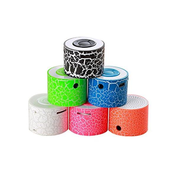 BEAYPINE Mini Haut-Parleur Portable TF Fente pour Carte USB Support Enceintes stéréo Portable Enceintes Lampe pour Halloween Party Study Yoga Office 5