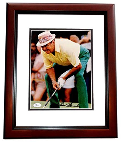 (Sam Snead Signed - Autographed Golf 8x10 inch Photo MAHOGANY CUSTOM FRAME - Deceased 2002 - JSA Certificate of Authenticity)