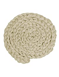 YeahiBaby Baby Photo Props Newborn Hand-woven Braid Rugs Blanket Photography Props (Beige)